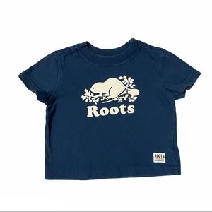 BABY ROOTS Short Sleeve Tshirt Navy Size S 3-6M